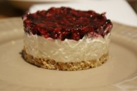 Cheesecake illico-presto aux fruits rouges